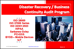 Disaster Recovery Planning Audit Program